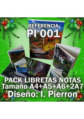 Pack libretas de notas Pierron